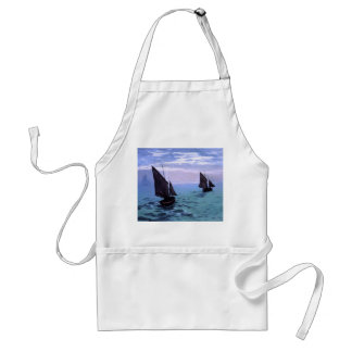 Claude Monet: Fishing Boats on their Way Adult Apron
