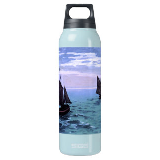 Claude Monet: Fishing Boats on their Way Insulated Water Bottle