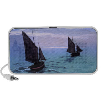 Claude Monet: Fishing Boats on their Way iPod Speaker