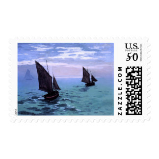 Claude Monet: Fishing Boats on their Way Postage