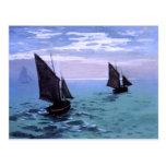 Claude Monet: Fishing Boats on their Way Postcards