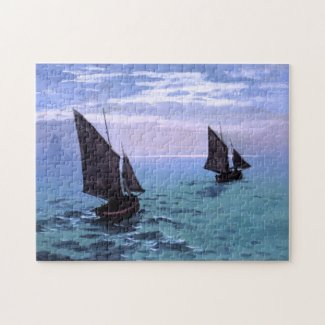 Claude Monet: Fishing Boats on their Way