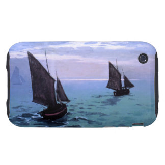 Claude Monet: Fishing Boats on their Way Tough iPhone 3 Cover