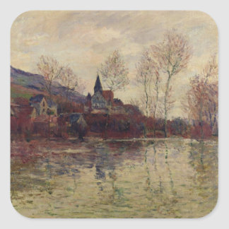 Claude Monet | Floods at Giverny Square Sticker