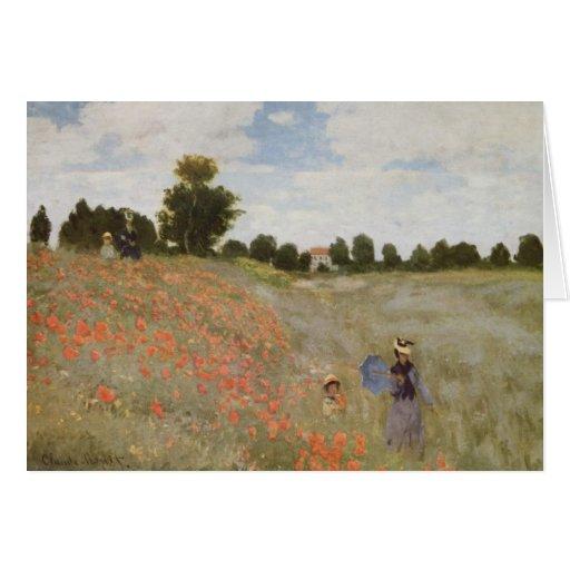 Claude Monet - floración de las amapolas Tarjetas
