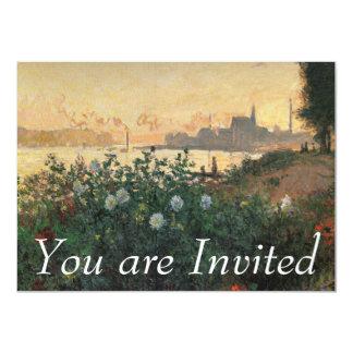 Claude Monet - Flowered Riverbank, Argenteuil Card