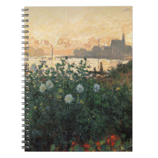 Claude Monet - Flowered Riverbank, Argenteuil Notebook