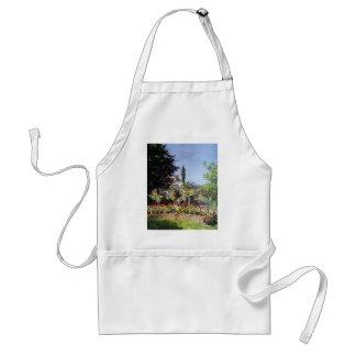 Claude Monet Flowering Garden Adult Apron