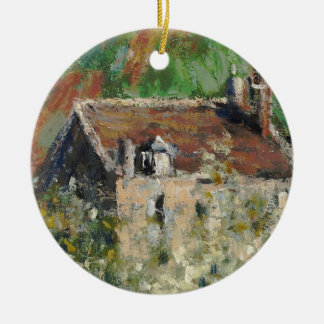 Claude Monet - Flowering Plum Trees Ceramic Ornament