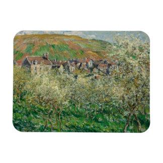 Claude Monet - Flowering Plum Trees Magnet
