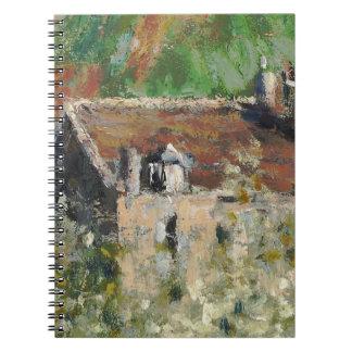 Claude Monet - Flowering Plum Trees Spiral Note Book