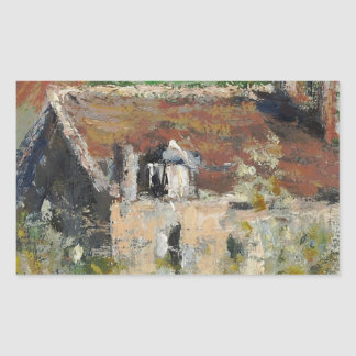 Claude Monet - Flowering Plum Trees Rectangular Sticker