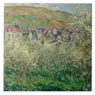 Claude Monet - Flowering Plum Trees Tile
