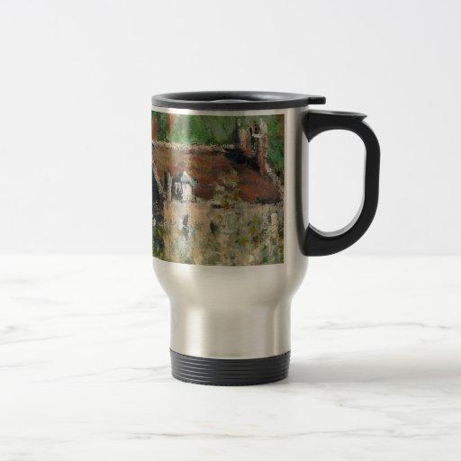 Claude Monet - Flowering Plum Trees Travel Mug