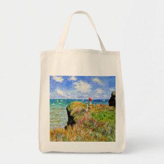 Claude Monet - francés Clifftop - impresionismo Bolsa Tela Para La Compra