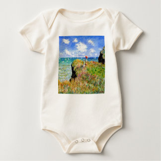 Claude Monet - French Clifftop - Impressionism Baby Bodysuit