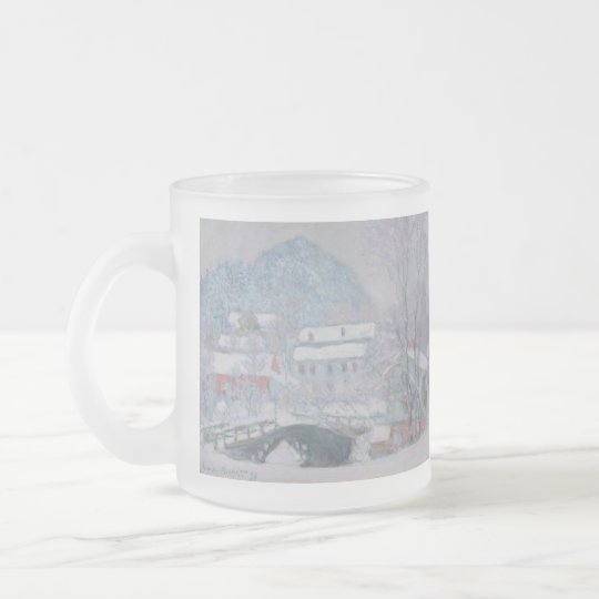 Claude Monet Frosted Glass Coffee Mug