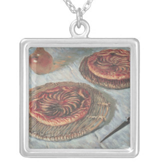 Claude Monet | Fruit Tarts, 1882 Silver Plated Necklace