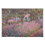 Claude Monet // Garden at Giverny Cloth Placemat
