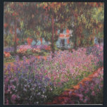 "Claude Monet // Garden at Giverny Napkin<br><div class=""desc"">A work of the famous Impressionist artist Claude Monet.</div>"