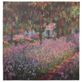 Claude Monet Garden at Giverny Printed Napkins