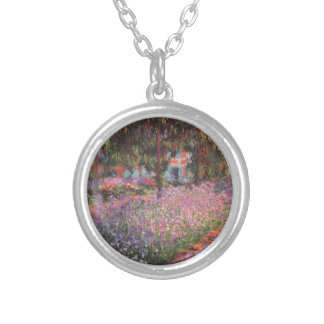 Claude Monet // Garden at Giverny Silver Plated Necklace