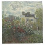 Claude Monet Garden in Argenteuil Printed Napkins