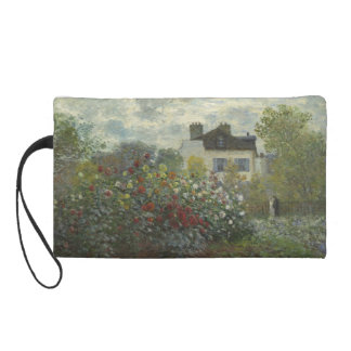 Claude Monet Garden in Argenteuil Wristlet Purse