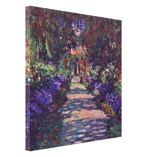 Claude Monet - garden path Gallery Wrapped Canvas