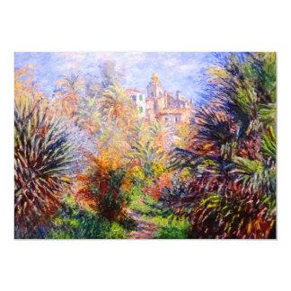 Claude Monet: Gardens of the Villa Moreno Bordighe 5x7 Paper Invitation Card