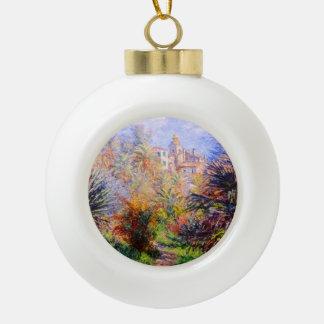 Claude Monet: Gardens of the Villa Moreno Bordighe Ceramic Ball Christmas Ornament