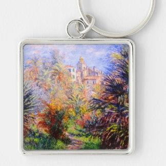 Claude Monet: Gardens of the Villa Moreno Bordighe Silver-Colored Square Keychain