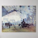Claude Monet - Gare Saint Lazare in Paris Poster