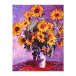 Claude Monet: Girasoles Impresiones En Lienzo Estiradas