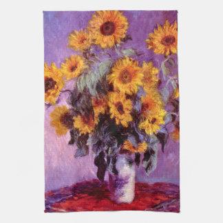Claude Monet: Girasoles Toallas