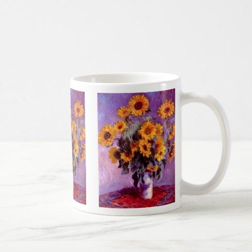 Claude Monet: Girasoles Taza Clásica
