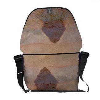 Claude Monet | Grainstack, Sun in the Mist Courier Bag
