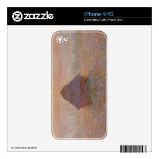 Claude Monet   Grainstack, Sun in the Mist iPhone 4 Decals