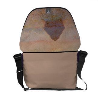 Claude Monet | Grainstack, Sun in the Mist Messenger Bag