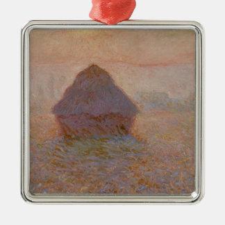Claude Monet | Grainstack, Sun in the Mist Metal Ornament