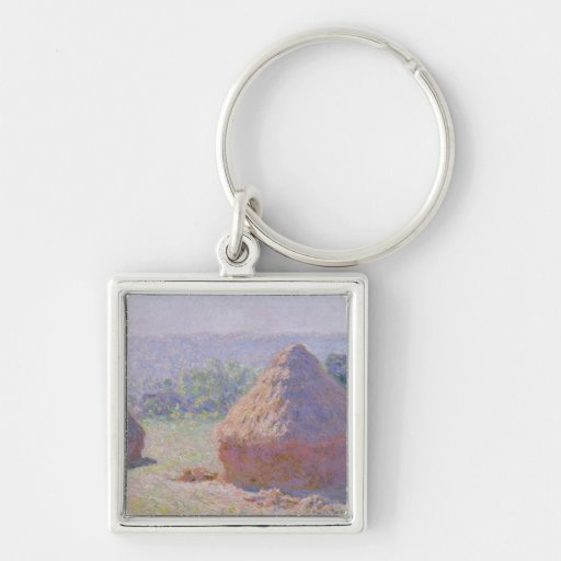 Claude Monet | Grainstacks at the end of Summer Keychain