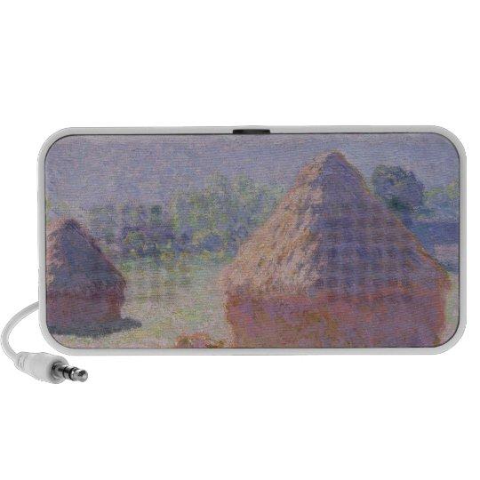 Claude Monet | Grainstacks at the end of Summer Portable Speaker