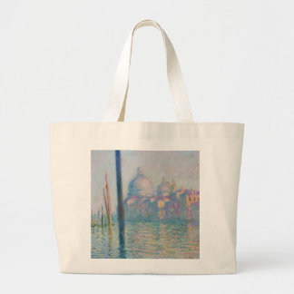 Claude Monet Grand Canal Venice Italy Travel Large Tote Bag