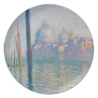 Claude Monet Grand Canal Venice Italy Travel Melamine Plate