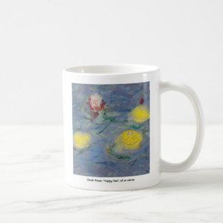 claude monet happy faces mug