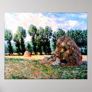 Claude Monet - Haystack at Giverny Poster