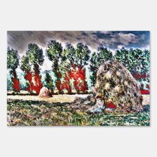 Claude Monet - Haystack at Giverny Lawn Signs