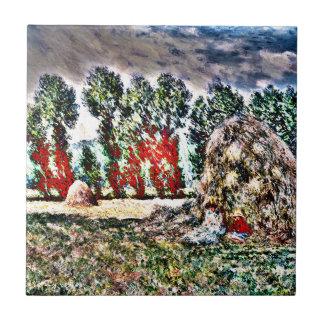 Claude Monet - Haystack en Giverny Azulejos Ceramicos