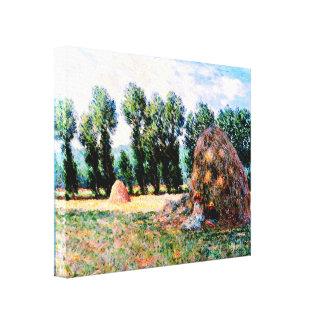 Claude Monet - Haystack en Giverny Impresión En Lienzo