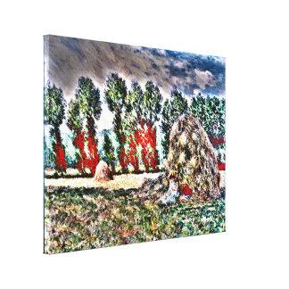 Claude Monet - Haystack en Giverny Impresiones En Lienzo Estiradas